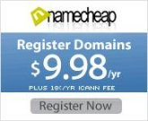 Domain Registrations starting at $9.98*