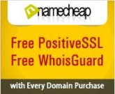 Free PositiveSSL and WhoisGuard with Every Domain Purchase