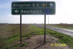 Princess Highway - Beachport to Kargaroo Inn Rd Intersection - View looking toward Kingston