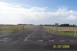 Princess Highway - Beachport to Kargaroo Inn Rd Intersection - Looking down Kangaroo Inn Road
